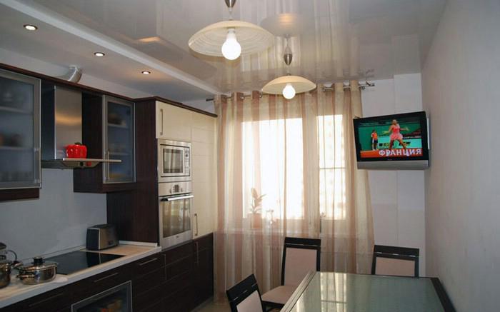 np49 Натяжные потолки на кухне