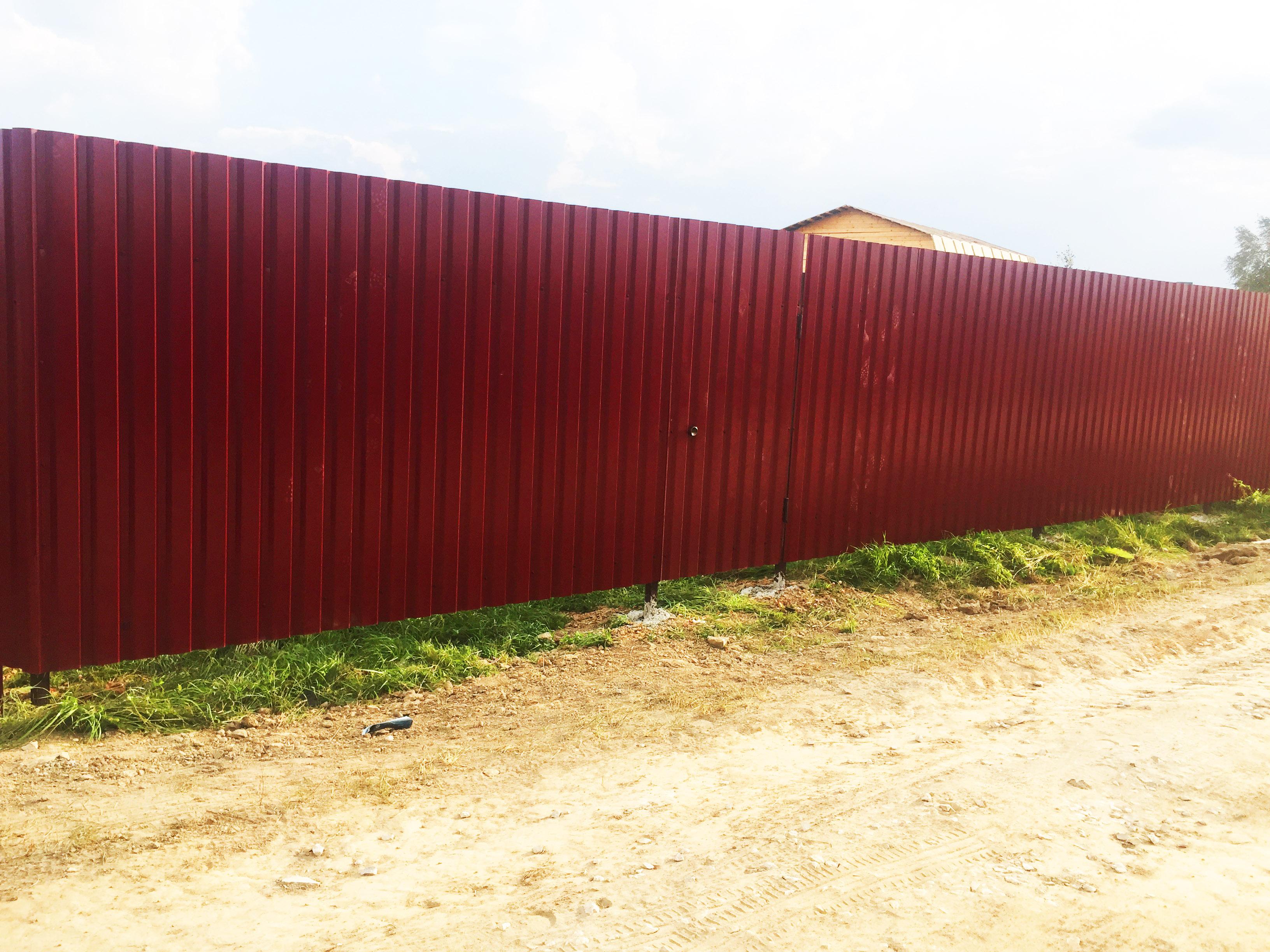 Забор из профлиста фото как сделать